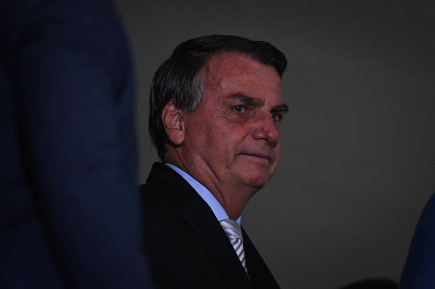 BRA: President Bolsonaro And Minister Guedes Attend Ceremony At Planalto Palace