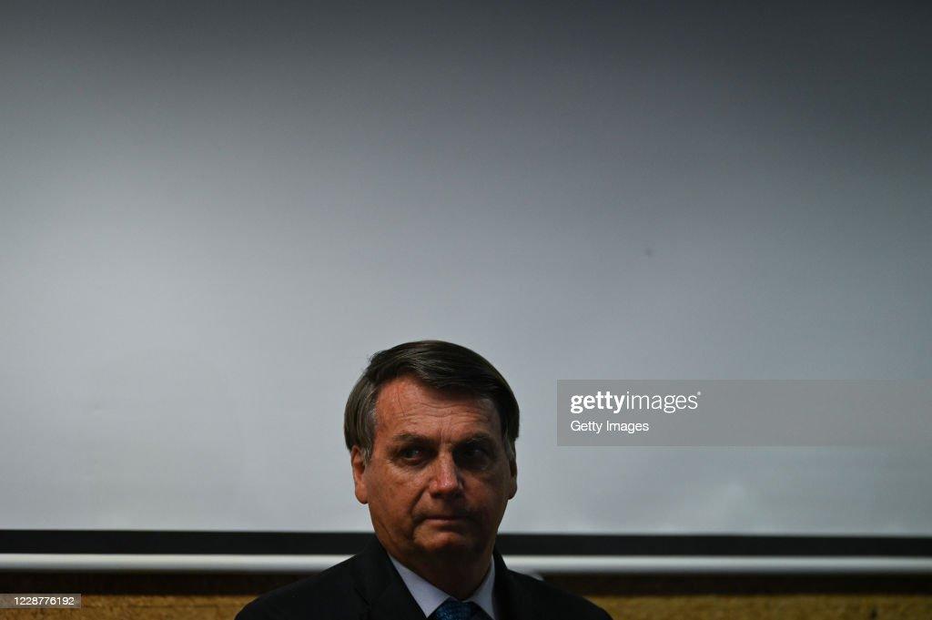 """Bolsonaro Launches the """"Mineracao e Desenvolvimento"""" Program at the Mines and Energy Ministry Amidst the Coronavirus (COVID - 19) Pandemic : News Photo"""