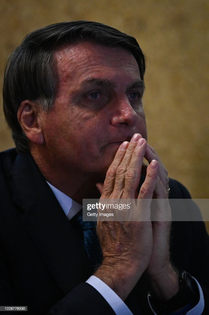 "Bolsonaro Launches the ""Mineracao e Desenvolvimento"" Program at the Mines and Energy Ministry Amidst the Coronavirus (COVID - 19) Pandemic : News Photo"