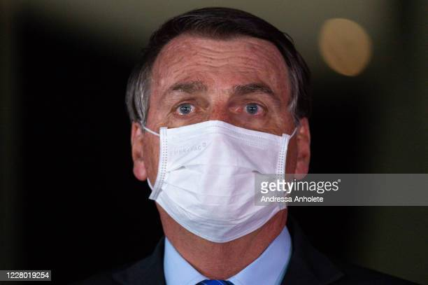 Jair Bolsonaro President of Brazil makes apronouncement reaffirming his commitment to the government spending ceiling amidst the coronavirus...