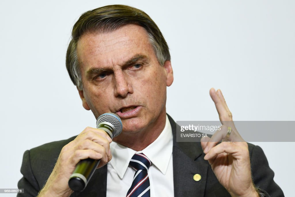 BRAZIL-ELECTION-CANDIDATES-BOLSONARO : News Photo