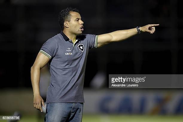 Jair Ventura head coachof Botafogo reacts during the match between Botafogo and Chapecoense as part of Brasileirao Series A 2016 at Luso Brasileiro...