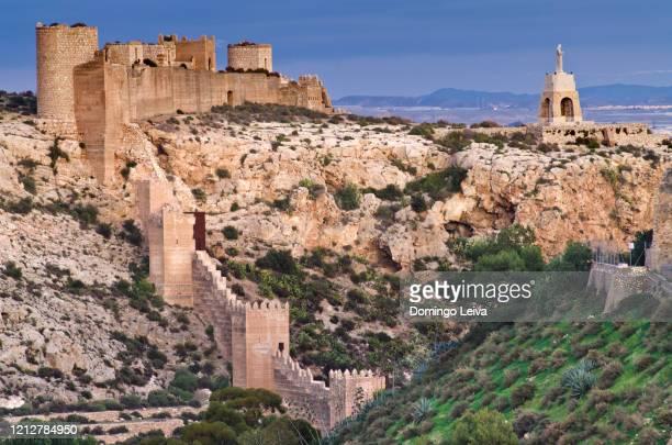 jairan wall on the hill of san cristobal, almería - アルメリア ストックフォトと画像