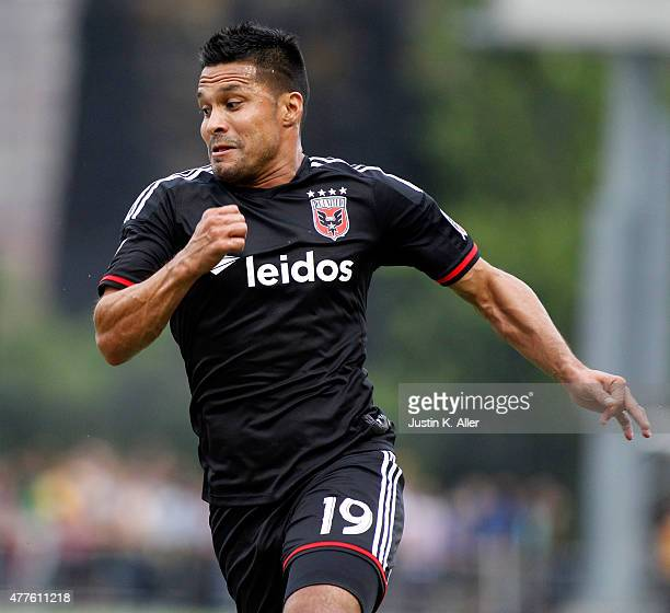 Jairo Arrieta of DC United during the 2015 US Open Cup against the Pittsburgh Riverhounds at Highmark Stadium on June 17 2015 in Pittsburgh...