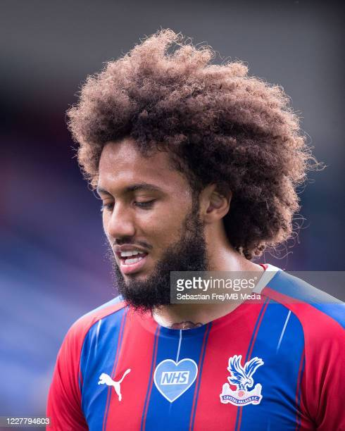 Jairo Riedewald of Crystal Palace looks on during the Premier League match between Crystal Palace and Tottenham Hotspur at Selhurst Park on July 26...