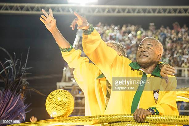 Jairzinho attends to the Rio Carnival in Sambodromo on February 7 2016 in Rio de Janeiro Brazil Despite the Zika virus epidemic thousands of tourists...