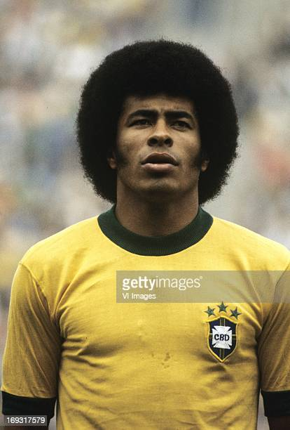 jairzinho during the FIFA World Cup match between Zaire and Brazil on June 22 1974 at the Parkstadion in Gelsenkirchen Germany