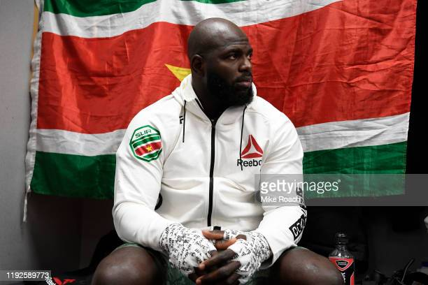 Jairzinho Rozenstruik of Suriname waits backstage during the UFC Fight Night event at Capital One Arena on December 07 2019 in Washington DC