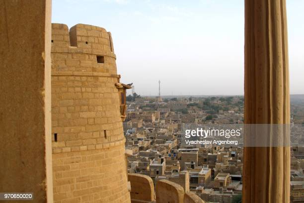 jaisalmer fort and jaisalmer city, rajasthan, india - argenberg stock pictures, royalty-free photos & images