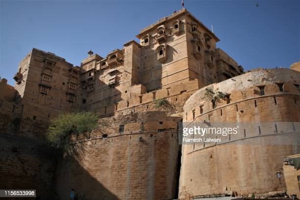 jaisalmer fort - jain temple stock photos and pictures