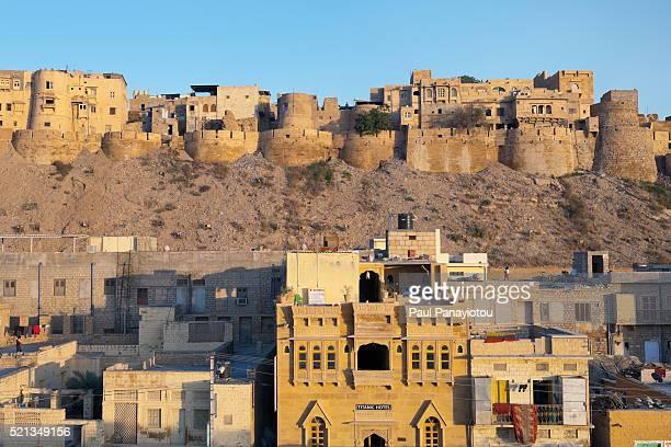Jaisalmer Fort rising above the town. Jaisalmer. Rajasthan, India