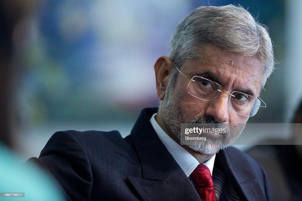 Indian Ambassador To The U.S. S. Jaishankar Interview : News Photo