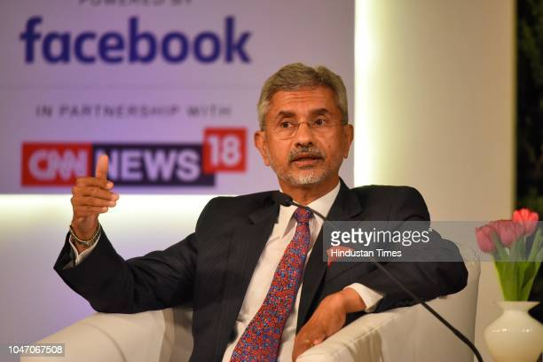 S Jaishankar President Global Corporate Affairs Tata Sons and Former Secretary of India during a second day of Hindustan Times Leadership Summit 2018...