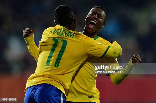 Jaja of Brazil celebrates his goal during the FIFA U20 World Cup New Zealand 2015 Group E match between Brazil and Korea DPR at the Christchurch...