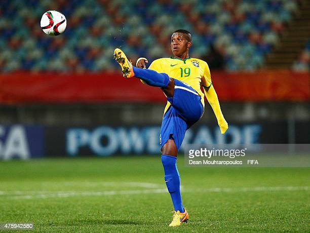 Jaja of Brazil in acton during the FIFA U20 World Cup New Zealand 2015 Group E match between Hungary and Brazil held at Stadium Taranaki on June 4...