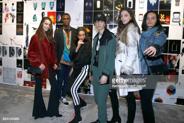 Jak Bueno Donaldson Obennebo daughter of Yannick Noah Jenaye Noah guest Larissa Marchiori and guest attend the Launching of the Book 'Mocafico...