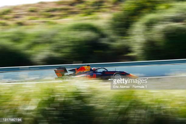 Jak Crawford of United States and Hitech Grand Prix drives at Circuito de Jerez on May 12, 2021 in Jerez de la Frontera, Spain.
