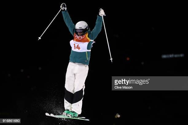Jakara Anthony of Australia competes during the Freestyle Skiing Ladies' Moguls Qualification on day two of the PyeongChang 2018 Winter Olympic Games...