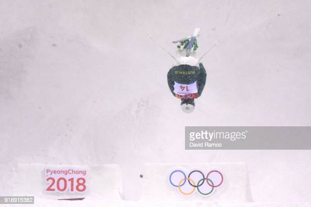Jakara Anthony of Australia competes during the Freestyle Skiing Ladies' Moguls Final on day two of the PyeongChang 2018 Winter Olympic Games at...