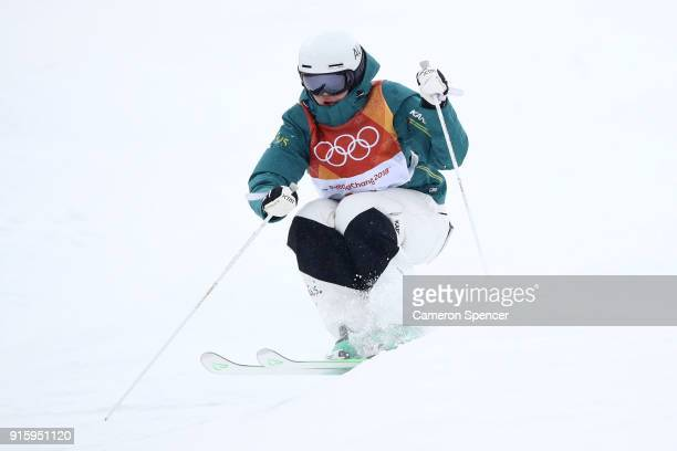 Jakara Anthony of Australia competes during the Ladies' Freestyle Skiing Moguls qualification ahead of the PyeongChang 2018 Winter Olympic Games at...
