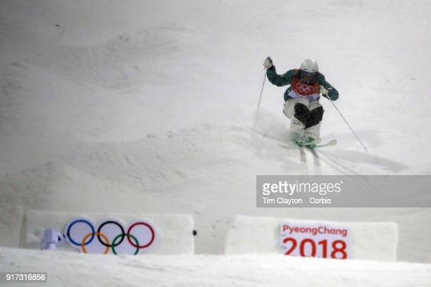Jakara Anthony of Australia in action during the Freestyle Skiing Ladies' Moguls competition at Phoenix Snow Park on February11 2018 in PyeongChang...