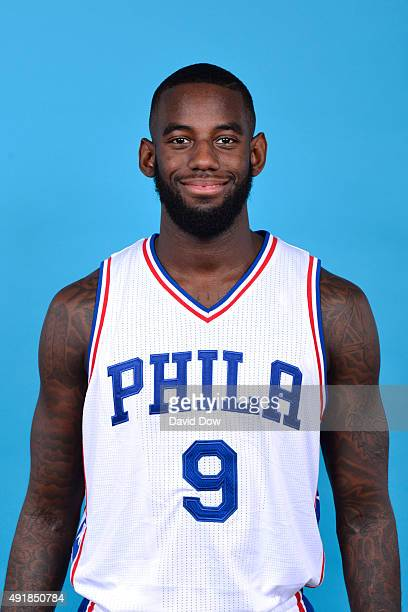 JaKarr Sampson of the Philadelphia 76ers poses for a photo during media day on September 28 2015 in Galloway New Jersey NOTE TO USER User expressly...