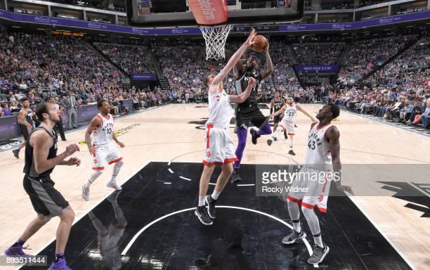 JaKarr Sampson of the Sacramento Kings goes up for the shot against the Toronto Raptors on December 10 2017 at Golden 1 Center in Sacramento...