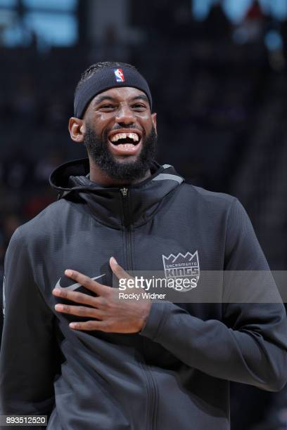 JaKarr Sampson of the Sacramento Kings looks on during the game against the Toronto Raptors on December 10 2017 at Golden 1 Center in Sacramento...