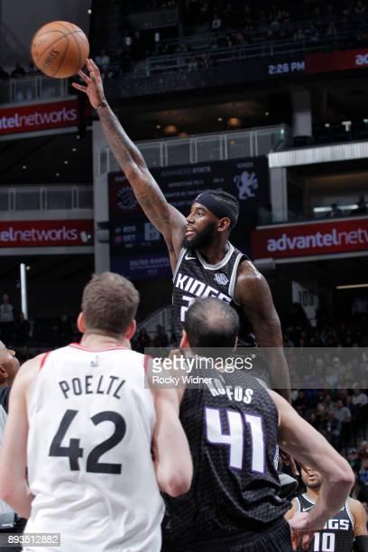JaKarr Sampson of the Sacramento Kings rebounds against the Toronto Raptors on December 10 2017 at Golden 1 Center in Sacramento California NOTE TO...