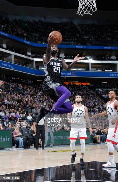 JaKarr Sampson of the Sacramento Kings shoots a layup against the Toronto Raptors on December 10 2017 at Golden 1 Center in Sacramento California...