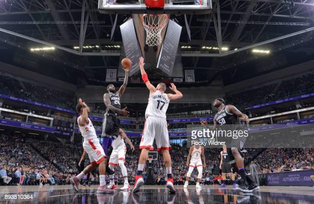 JaKarr Sampson of the Sacramento Kings shoots against the Toronto Raptors on December 10 2017 at Golden 1 Center in Sacramento California NOTE TO...