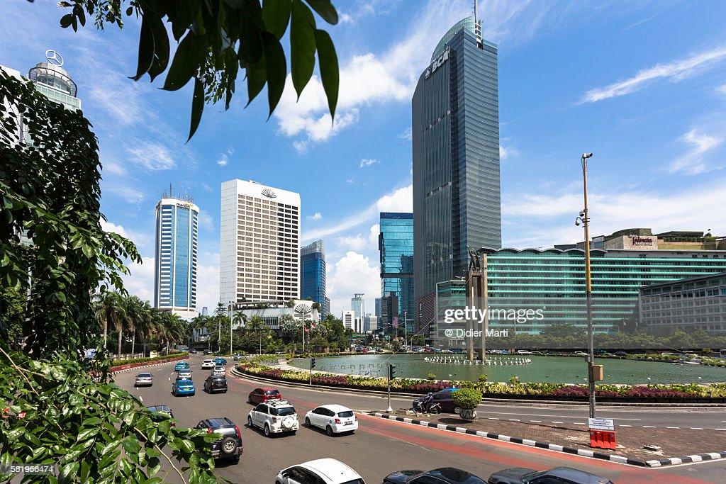 Jakarta business district : Stock Photo