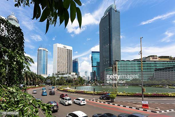 jakarta business district - emerging markets stock photos and pictures