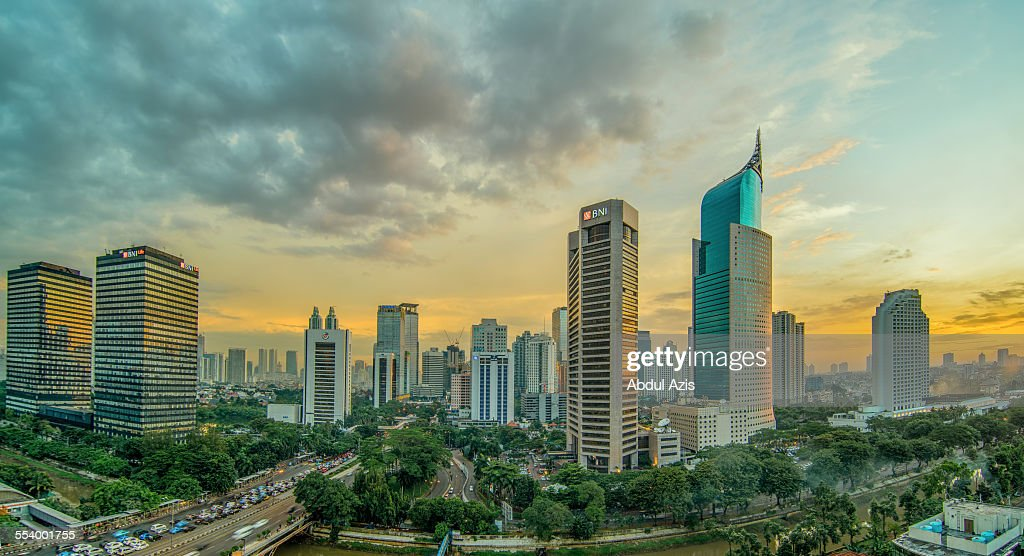 Jakarta Central Business District : Stock Photo