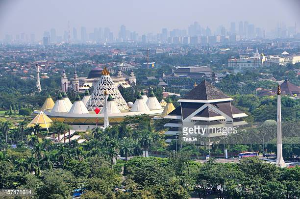jakarta city background - bogor stock pictures, royalty-free photos & images