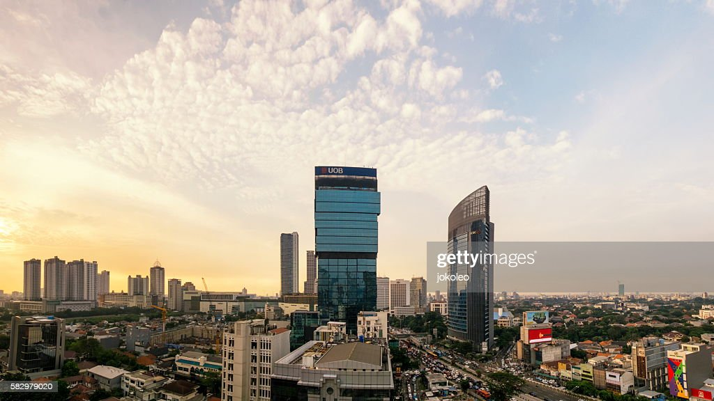 Jakarta City Panorama : Stock Photo