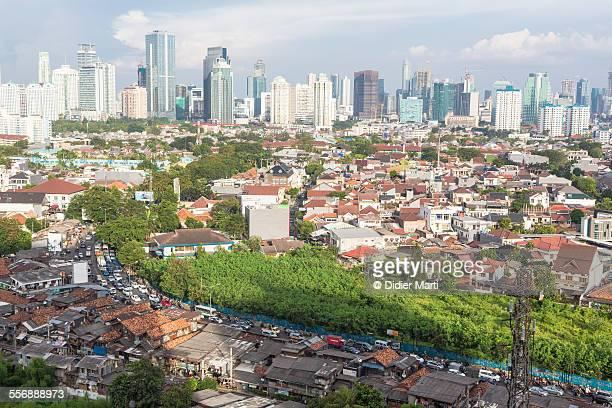 jakarta cityscape - didier marti stock-fotos und bilder