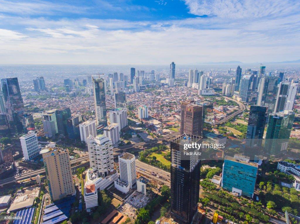 Jakarta in a Super Bright Day : Stock Photo