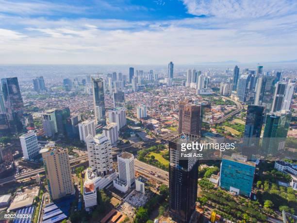 Jakarta in a Super Bright Day