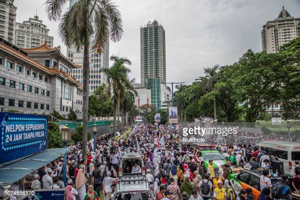Arround thousand of muslims held demonstration in front of China EmbassyJakarta to protest china action to minority Uyghur people at China who were...
