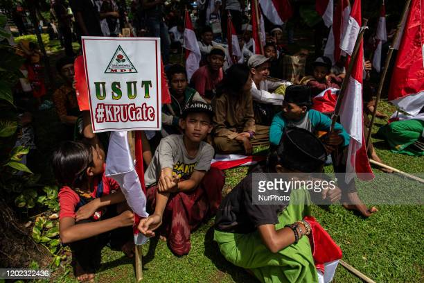 "Jakarta, Indonesia, 21 February 2020 : Hundreds of Muslim from Indonesia held demonstration at Merdeka Street as part of ""212"" reunion..."
