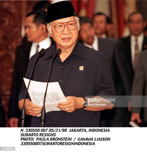 Jakarta, Indonesia Suharto Resigns