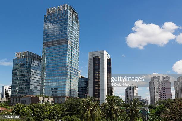 jakarta modern cityscape - didier marti stock photos and pictures
