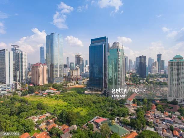 Jakarta office towers.