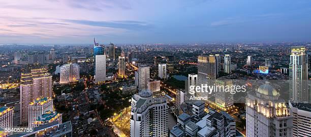 Jakarta Skyline Blue Hour