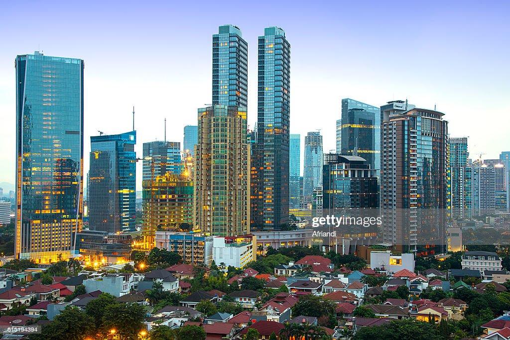 Jakarta skyline, Indonesia : Stock Photo