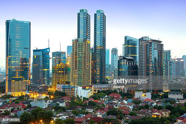 jakarta skyline, indonesia - jakarta stock pictures, royalty-free photos & images