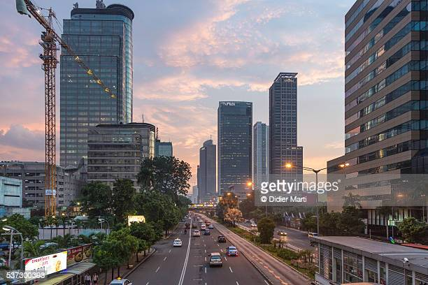 Jakarta Thamrin road rush