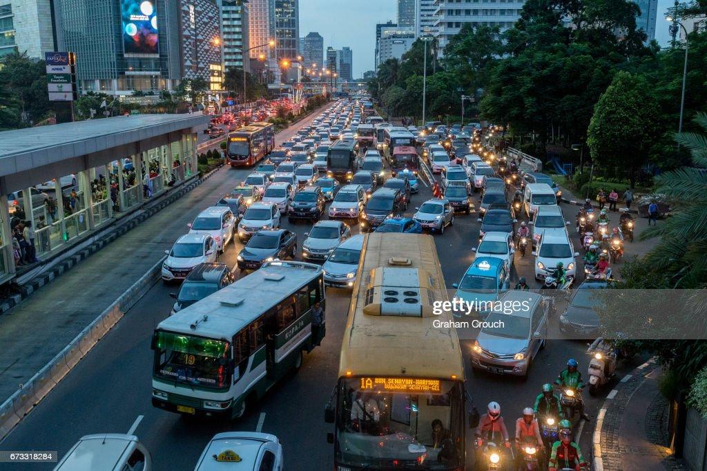 Jakarta Traffic : Stock Photo