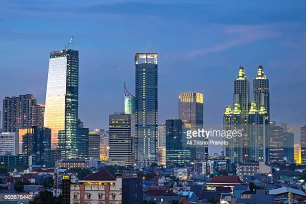 Jakarta's Cityscape on Last Day in 2015